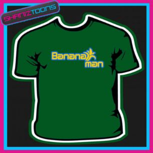 BANANA  MAN  RETRO COOL FUNKY NEW DESIGN SLOGAN TSHIRT